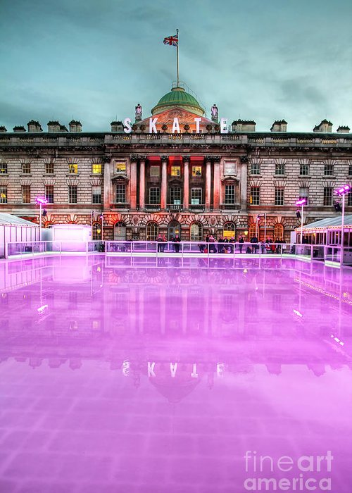 Ice Rink Greeting Card featuring the photograph Skating At Somerset House by Jasna Buncic