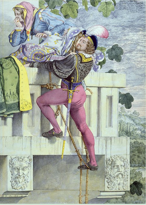 Romeo Greeting Card featuring the painting Sketch For The Passions Love by Richard Dadd
