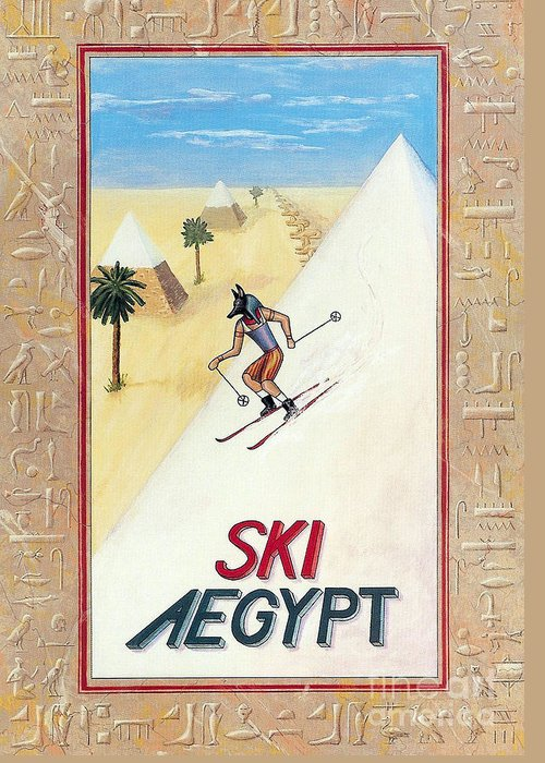 Egypt Greeting Card featuring the painting Ski Aegypt by Richard Deurer