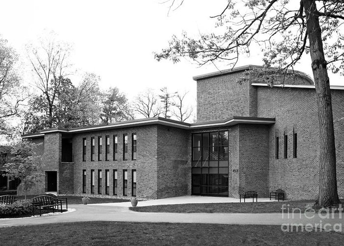 Filene Hall Greeting Card featuring the photograph Skidmore College Filene Hall by University Icons