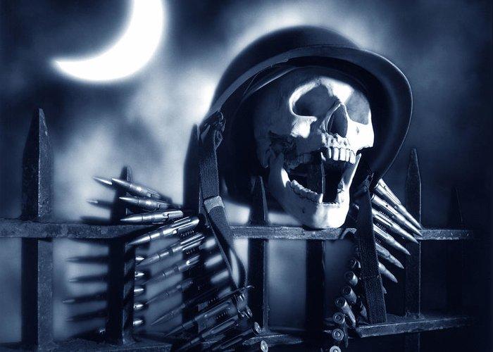 Skull Greeting Card featuring the photograph Skull by Tony Cordoza