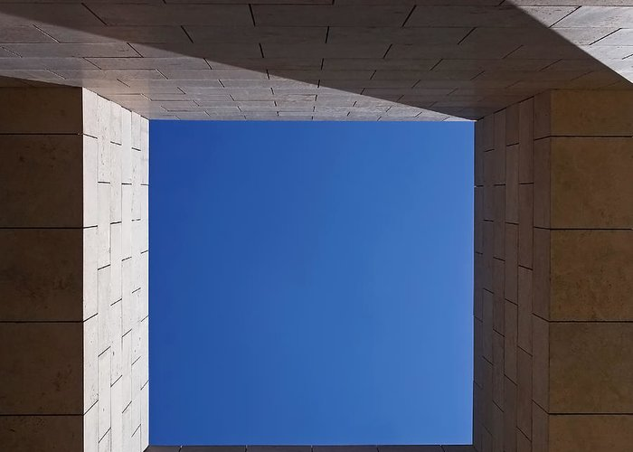 The Getty Center Greeting Card featuring the photograph Sky Box At The Getty 2 by Rona Black