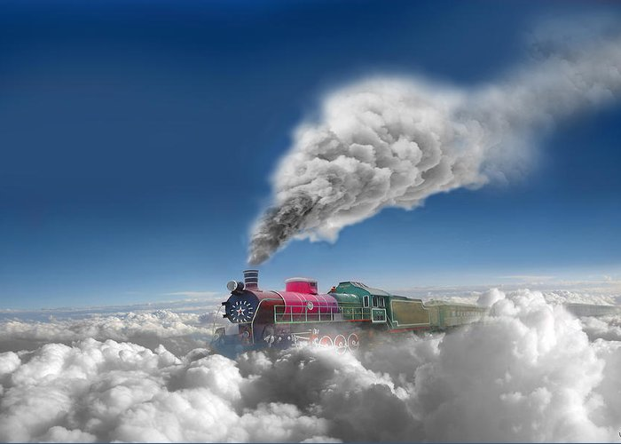 Clouds Greeting Card featuring the photograph Sky Express by Igor Zenin