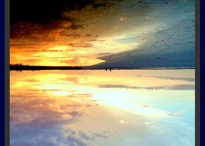 Water Greeting Card featuring the photograph Sky Meets Water by Satya Winkelman
