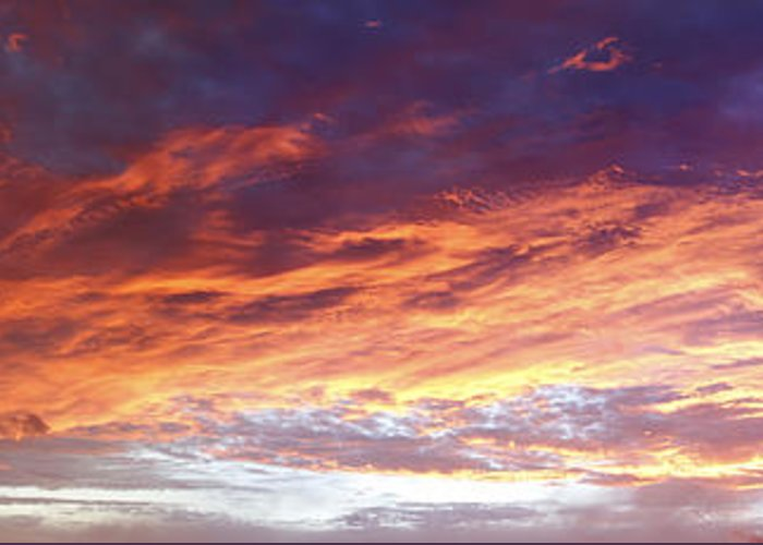 Dawn Greeting Card featuring the photograph Sky On Fire by Les Cunliffe