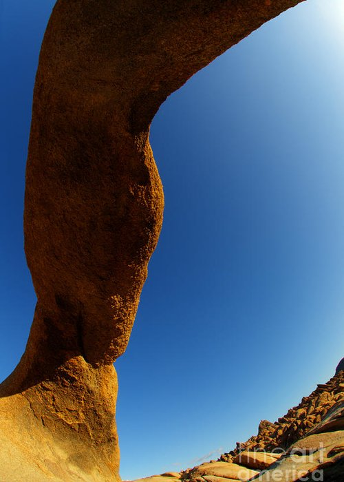 Mobius Arch Greeting Card featuring the photograph Skyward by Bob Christopher