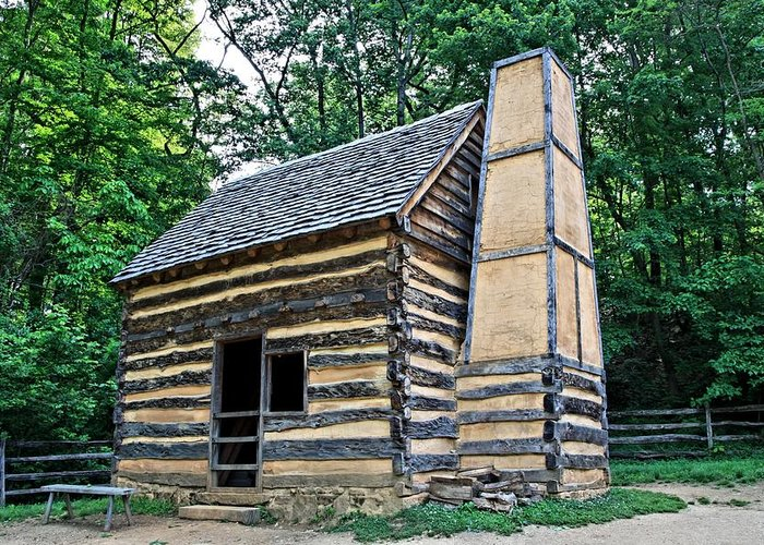 Slave Greeting Card featuring the photograph Slave Cabin by DJ Florek