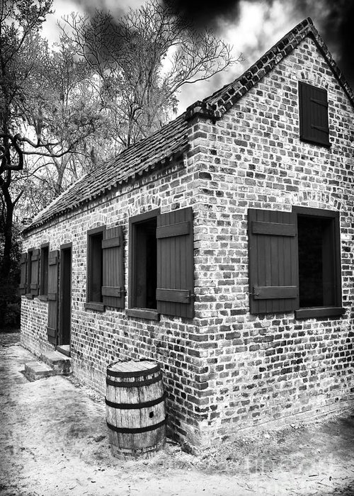 Slave House Greeting Card featuring the photograph Slave House by John Rizzuto