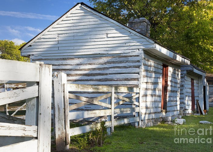 Slave Greeting Card featuring the photograph Slave Huts On Southern Farm by Brian Jannsen