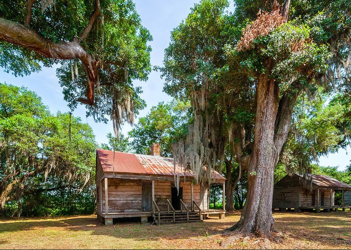 Evergreen Plantation Greeting Card featuring the photograph Slave Quarters 2 by Steve Harrington