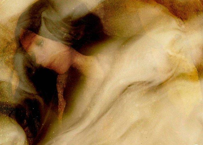 Woman Greeting Card featuring the digital art Sleep Well by Gun Legler