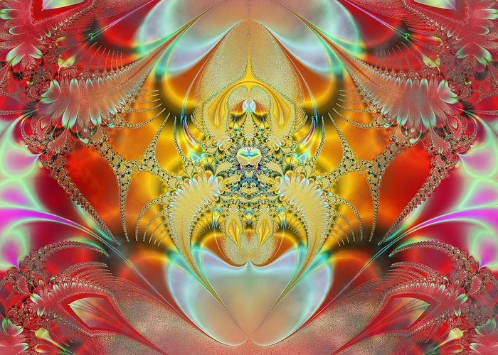 Abstract Greeting Card featuring the digital art Sleeping Genie by Ian Mitchell