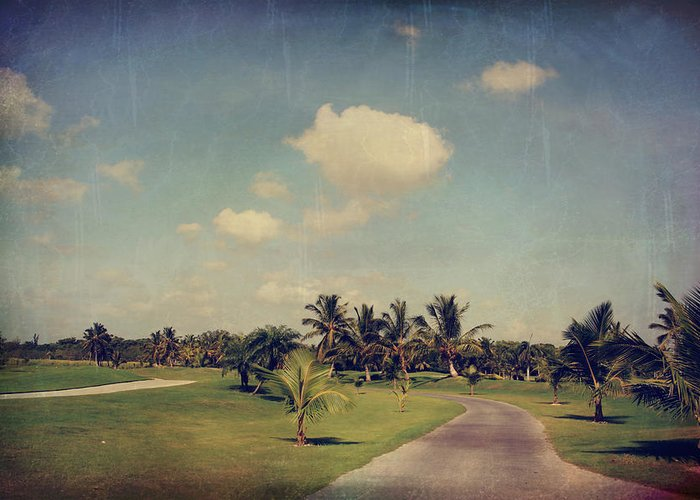 Tropical Golf Course Greeting Cards