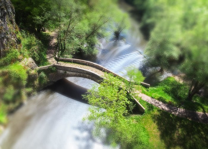 Morvan Greeting Card featuring the photograph Small Bridge by Dirk Ercken