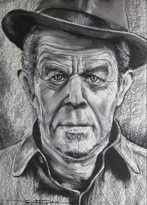 Tom Waits Greeting Card featuring the drawing Small Change for Tom Waits by Eric Dee
