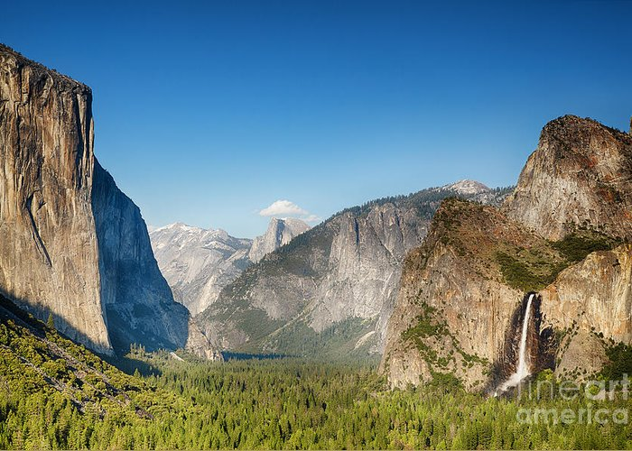 Park Greeting Card featuring the photograph Small Clouds Over The Half Dome by Jane Rix