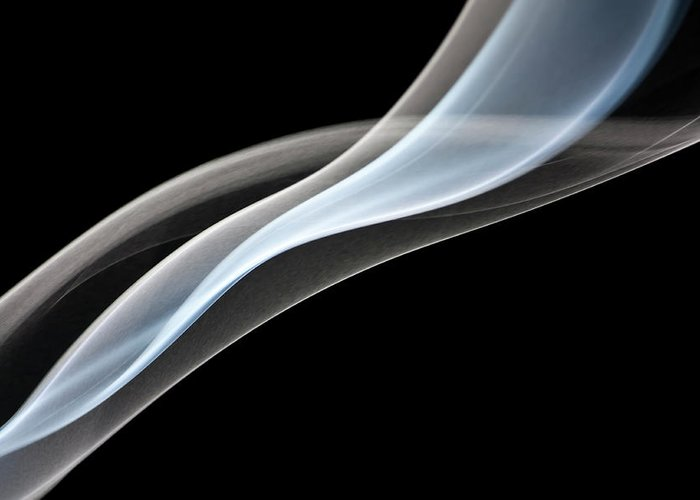 Curve Greeting Card featuring the photograph Smoke, Creative Abstract Vitality by Tttuna