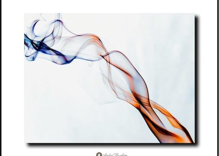 Simple Smoke Greeting Card featuring the photograph Smoke Photography by Andre Boykin