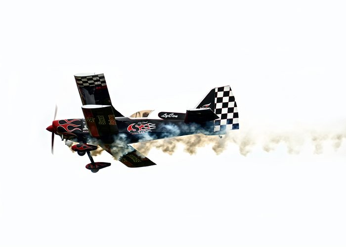 Airplane Greeting Card featuring the photograph Smoke Rings by Steven Michael