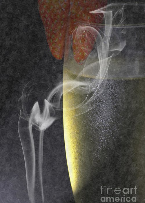 Wine Greeting Card featuring the photograph Smokey by Brian Roscorla