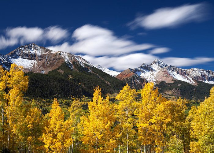 Colorado Landscapes Greeting Card featuring the photograph Sneffels Winds by Darren White