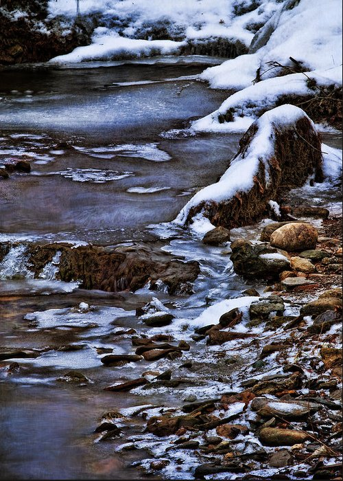 Winter Greeting Card featuring the photograph Snow And Ice Water And Rock by Dale Kincaid