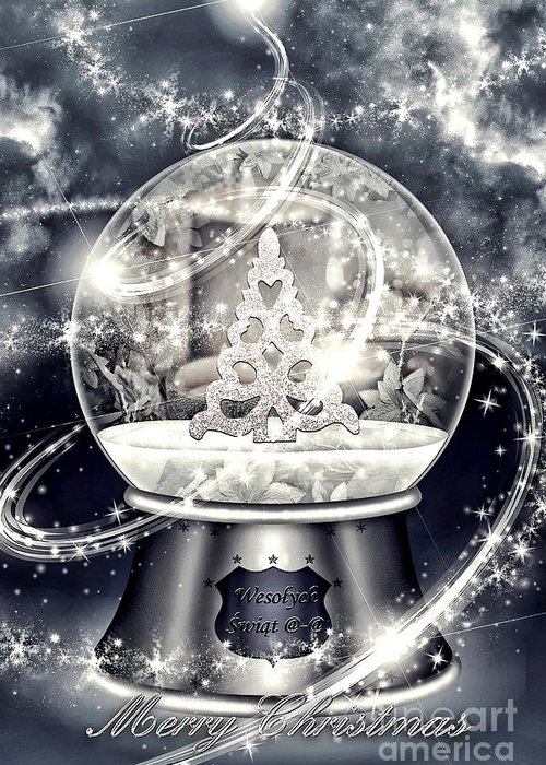Snow Ball Greeting Card featuring the digital art Snow Ball by Mo T
