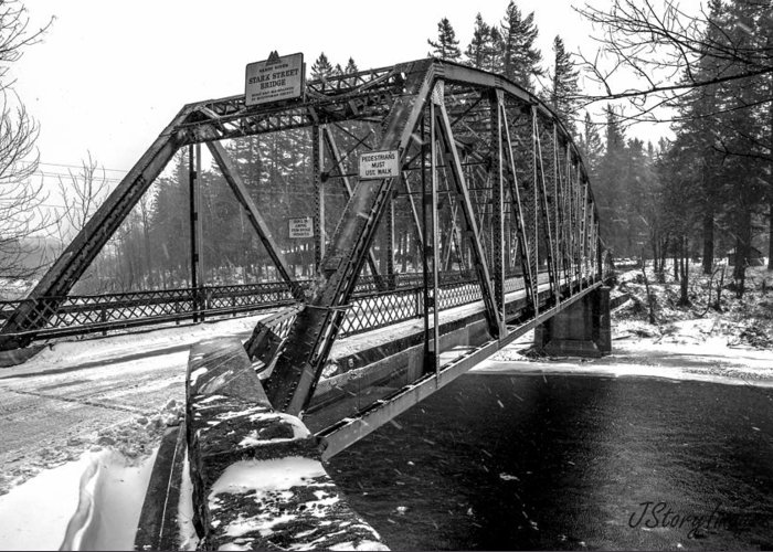 Bridge Greeting Card featuring the photograph Snow Bridge by Jimmy Story
