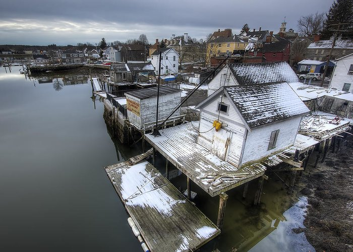 Snow Greeting Card featuring the photograph Snow In The South End by Eric Gendron