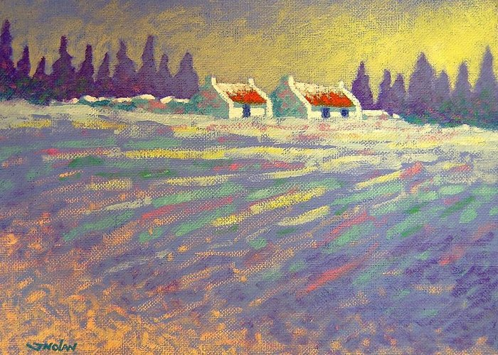 Ireland Greeting Card featuring the painting Snow Scape County Wicklow by John Nolan