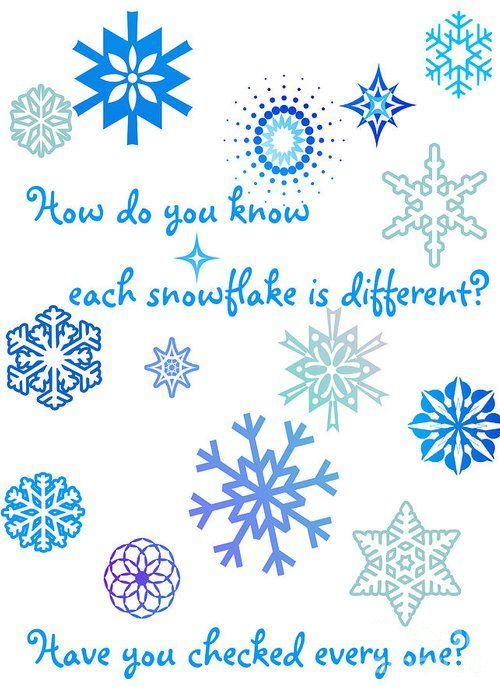 Snowflakes Greeting Card featuring the digital art Snowflakes by Methune Hively