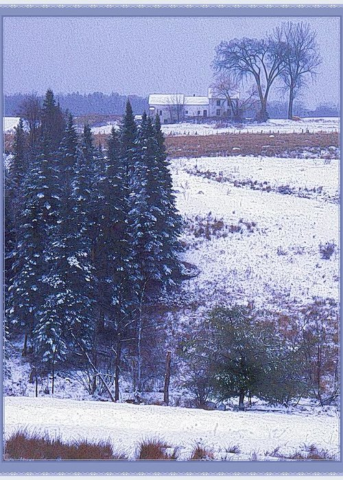 Snow's Arrival Greeting Card featuring the photograph Snow's Arrival by Joy Nichols