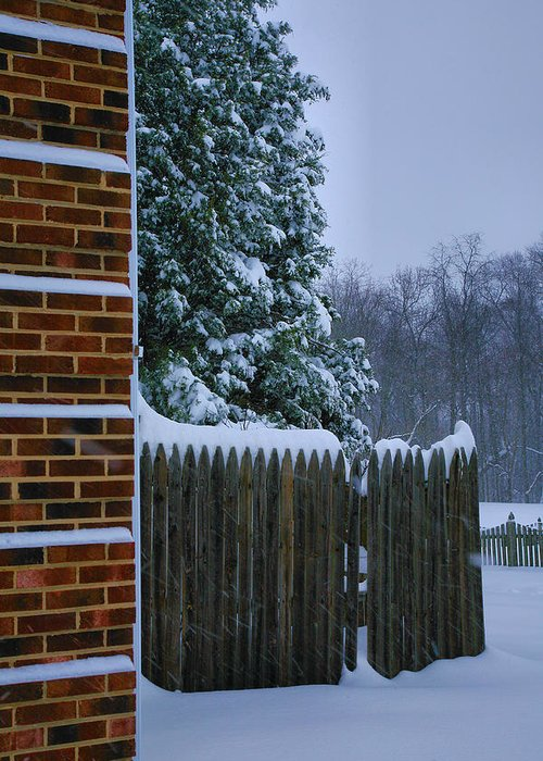 Snow Greeting Card featuring the photograph Snowy Corner by Steven Ainsworth