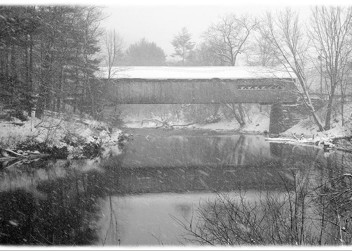 Coombs Greeting Card featuring the photograph Snowy Crossing by Luke Moore