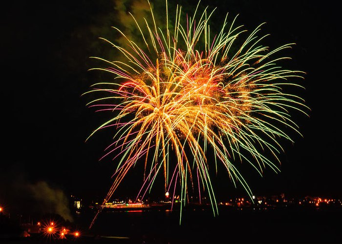 Fireworks Greeting Card featuring the photograph So Many Colours by Sabine Edrissi