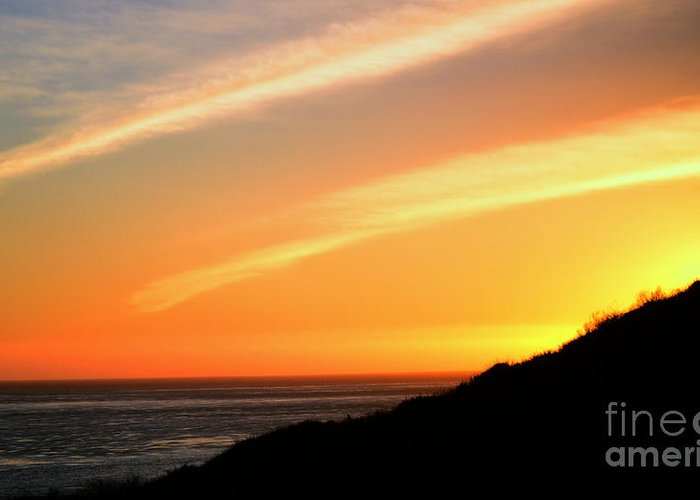 Ocean Greeting Card featuring the photograph Socal Coastal Sunset by Clayton Bruster