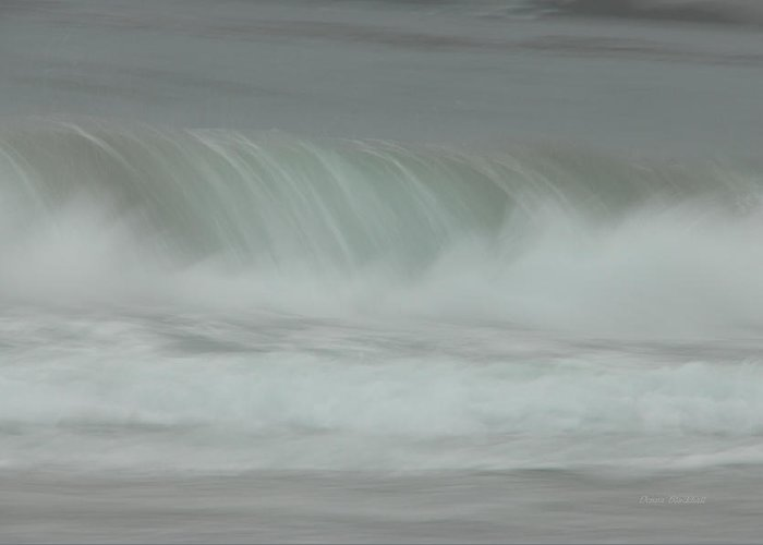 Ocean Greeting Card featuring the photograph Soft Touch by Donna Blackhall