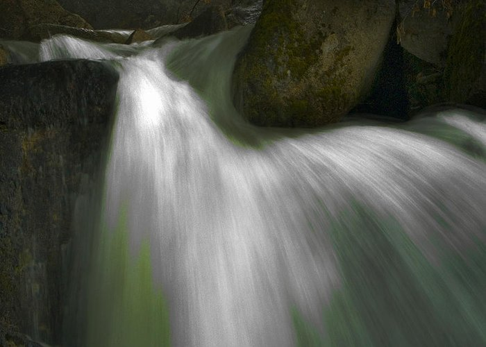 Cascades Greeting Card featuring the photograph Softwater Of Cascade Creek by Bill Gallagher