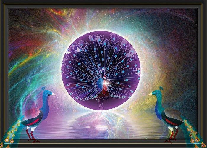 Symbolic Digital Art Greeting Card featuring the digital art Solar Flares by Harald Dastis