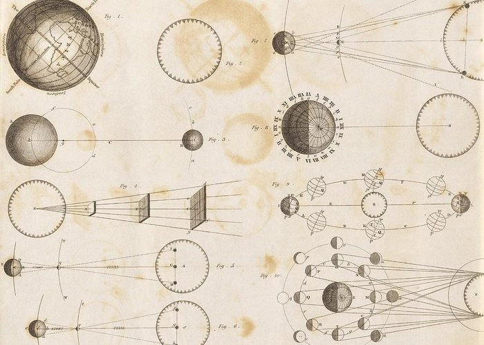 Sun Greeting Card featuring the photograph Solar System Astronomy, 19th Century by Science Photo Library