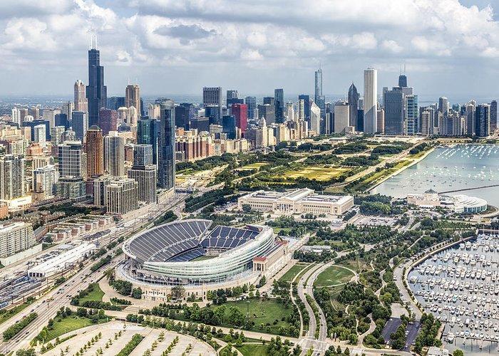 Chicago Skyline Photographs Greeting Cards