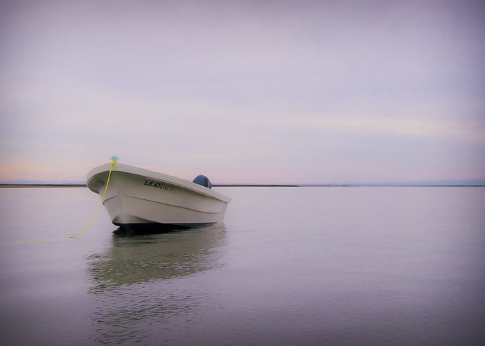 3scape Photos Greeting Card featuring the photograph Solitary Boat by Adam Romanowicz