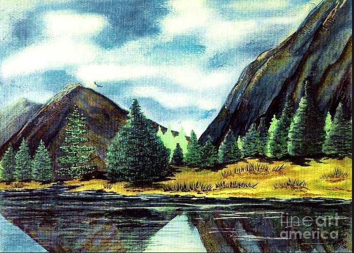 Fine Art Greeting Card featuring the painting Solitude by Patricia Griffin Brett