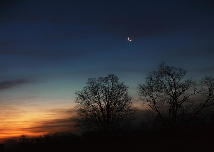 Moon Greeting Card featuring the photograph Solstice Moon by Bill Wakeley