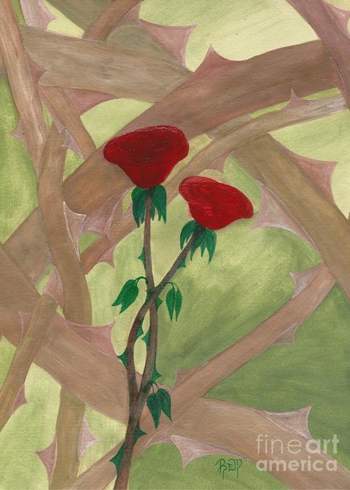 Roses Greeting Card featuring the painting Something Simple by Robert Meszaros