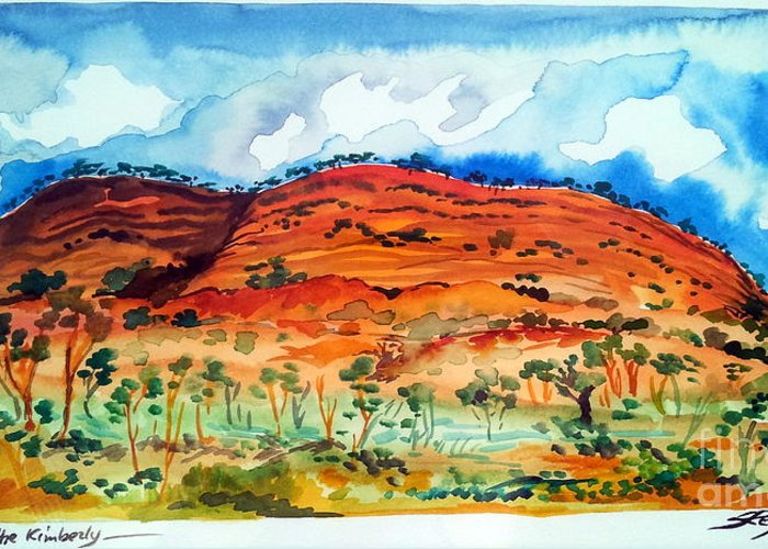 Australia Greeting Card featuring the painting Somewhere In The Kimberley Australia by Roberto Gagliardi