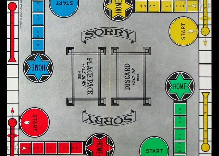 Sorry Board Game Greeting Card For Sale By Steven Parker