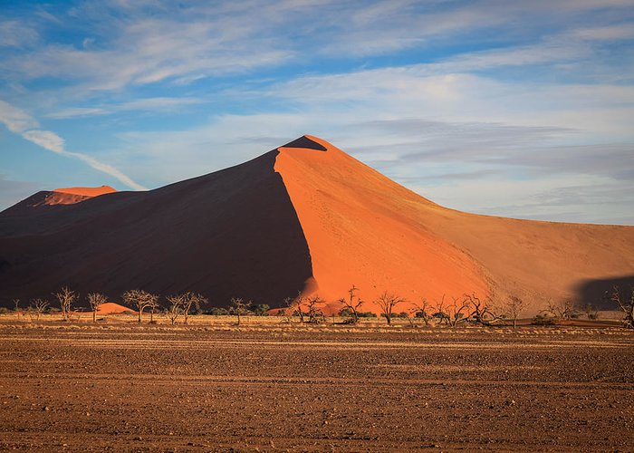 Namibia Greeting Card featuring the photograph Sossusvlei Park Sand Dune by Gregory Daley MPSA