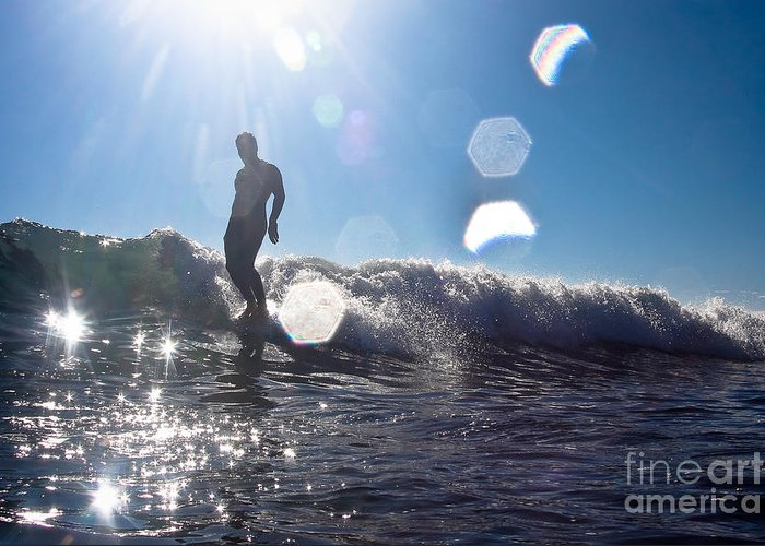 Surfing Greeting Card featuring the photograph Soul Shine by Paul Topp