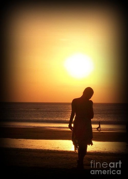 Silhouette Greeting Card featuring the photograph Soulset by Anam Cara Cat
